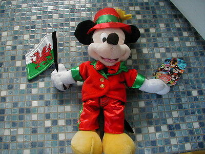 Disney Store Mickey Mouse Welsh Wales Beanbag Brand New Very Rare