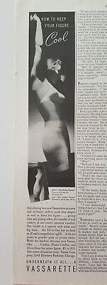 1938 Hollywood vassarette women's girdle bra how to keep figure cool ad