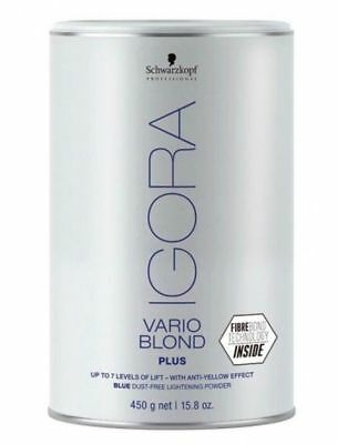 Schwarzkopf Igora Vario Blond Blue Powder Bleach 450g  Anti Yellow - FIBERBOND