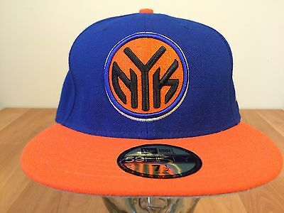 d41035bf069 NEW YORK KNICKS New Era Mens Fitted Baseball Hat Cap Size 7 1 2 New ...