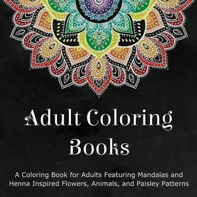 NEW Adult Coloring Books By Coloring Books for Adults Paperback Free Shipping