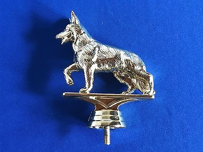 German Shepherd Dog Trophy Topper Award Prize Gold Color Plastic