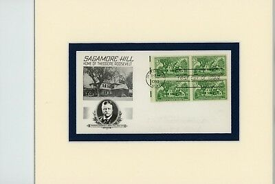 Teddy Roosevelt & his home at Sagamore Hill & First Day Cover of its own stamp