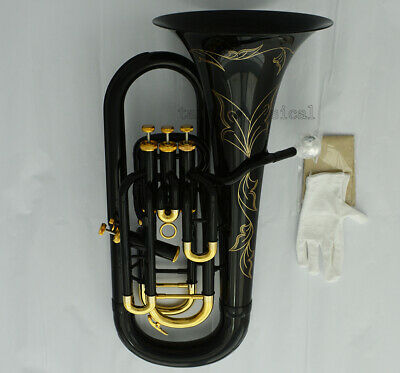 Professional New Black Euphonium Horn B-Flat 3+1 Key With Case