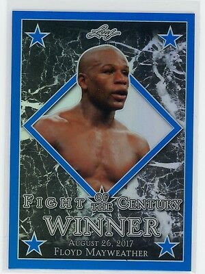 2017 Leaf FIGHT OF THE CENTURY BLUE PRISMATIC Floyd Mayweather /10 RARE