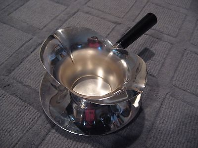 Vintage F B Rogers Silver Plate 856 Sauce Gravy Boat With Handle + Drip Plate