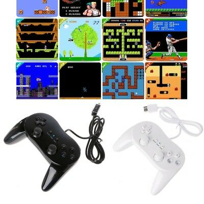 Classic Wired Game Controller Gaming Remote Pro Gamepad Shock For Nintendo Wii