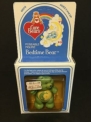 Vintage 1980's Kenner Care Bears Figure: Bedtime Bear NRFB