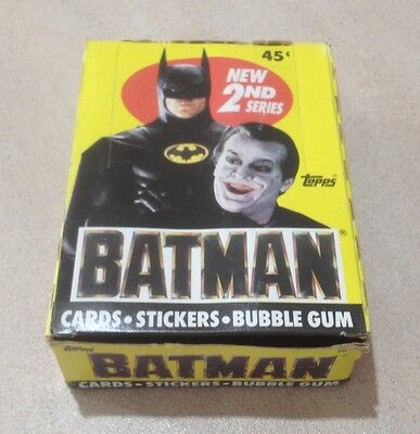 "1989 Topps ""Batman (The Movie) - Series 2"" - Full Box of 36 Wax Packs"