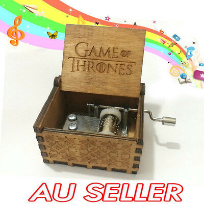 New GAME OF THRONES Theme Music Box Engraved Wooden Music Box Crafts Xmas Gifts