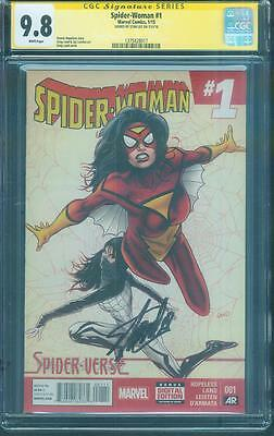 SPIDER WOMAN 1 CGC SS 9.8 Stan Lee Signed Greg Land Classic Silk Cover