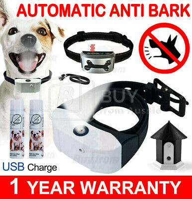 Rechargeable Humane Citronella Anti Bark Spray Dog Collar SET Stop Barking OZ