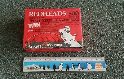 Vintage Redhead Matches! Ansett