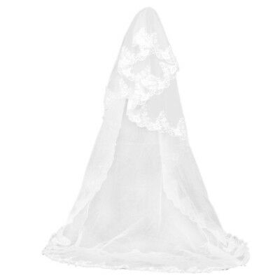 10X(Wedding veil lace decorative edge style white Y A4G6