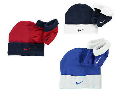 Nike Booties and Hat Set, Nike Newborn Gift Set - 5 Colours - Free P&P