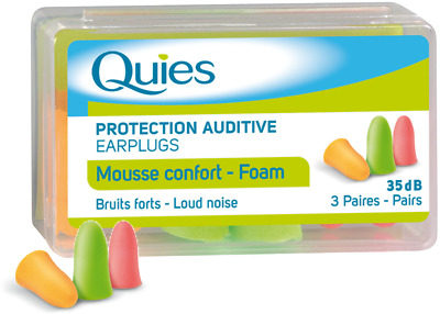 Quies Soft FOAM Ear Plugs Earplugs Noise Protection - 3 PAIRS - FREE UK DELIVERY
