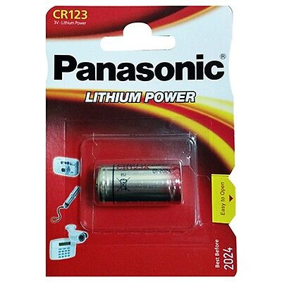 10x Batteries Panasonic CR123 3V LITHIUM CAMERA FOTO123A DL 123A THE CR123AP