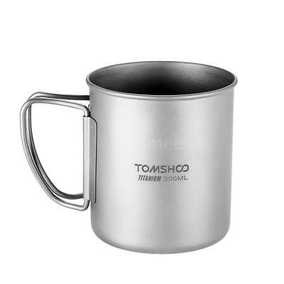 300ml Anium Coffee Mug Outdoor Camping Water Cup With Foldable Handle Us R3m3