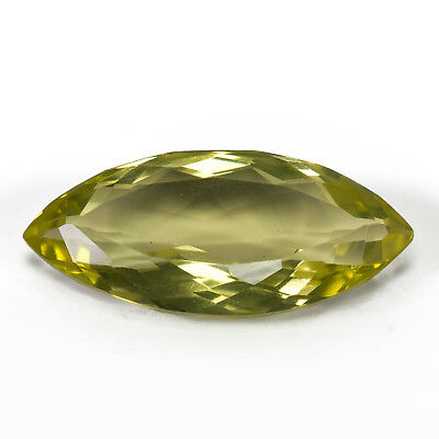 32.92ct Large Oro Verde Yellow Quartz with a marquise cut and a stunning colour