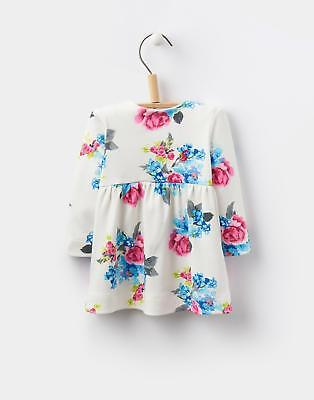 Joules 124443 Baby Girls Hannah Long Sleeve Jersey Dress in Cream Floral