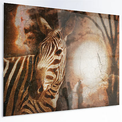 Design Art 'Vintage Style African Zebra' Graphic Art on Metal