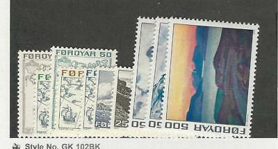 Faroe Islands, Postage Stamp, #7//20 (10 DIff) Mint NH, 1975