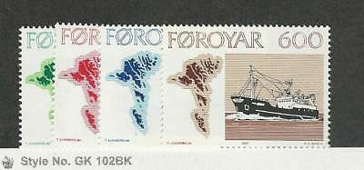 Faroe Islands, Postage Stamp, #24-27 Mint NH, 1977 Ships