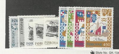 Faroe Islands, Postage Stamp, #81-89 Mint NH, 1982
