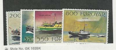 Faroe Islands, Postage Stamp, #232-235 Mint NH, 1992 Ships