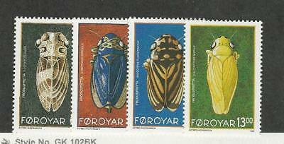 Faroe Islands, Postage Stamp, #276-279 Mint NH, 1995 Insects
