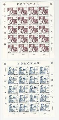 Faroe Islands, Postage Stamp, #95-96 Sheets Mint NH, 1983 Science