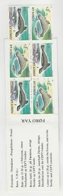 Faroe Islands, Postage Stamp, #240a Mint NH Booklet, 1992 Seals (p)