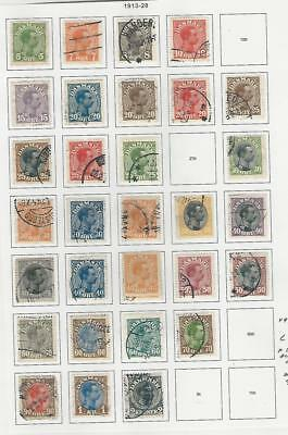 Denmark, Postage Stamp, #97//129 (30 Different) Used, 1913-28 (p)