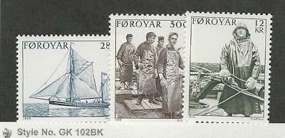Faroe Islands, Postage Stamp, #112-114 Mint NH, 1984 Ship
