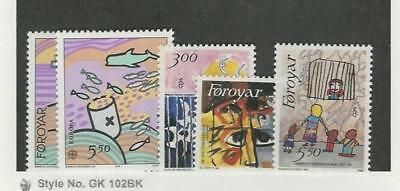 Faroe Islands, Postage Stamp, #143-147 Mint NH, 1986