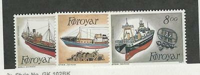 Faroe Islands, Postage Stamp, #158-160 Mint NH, 1987 Ships