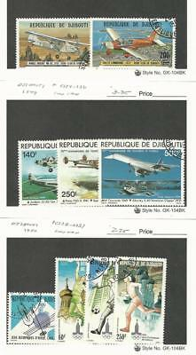 Djibouti, Postage Stamp, #C110, 2, C124-6, C128-31 Used, 1978-80 Airplanes
