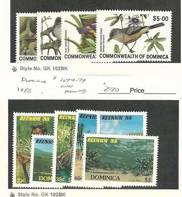 Dominica, Postage Stamp, #696-699 Mint LH, 1074-79 NH, 1981-88 Birds
