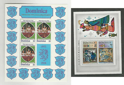 Dominica, Postage Stamp, #571, 548, 608-612 Mint NH Sheets & Set, 1977-79