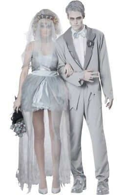 Ghost Groom & Bride Couple Halloween Costumes