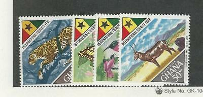 Ghana, Postage Stamp, #315-318 Mint NH, 1967 Animal, Bird, Butterfly