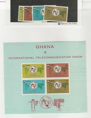 Ghana, Postage Stamp, #204-207, 207a Set & Sheet Mint NH, 1965