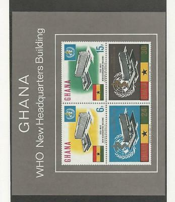 Ghana, Postage Stamp, #250a Sheet Mint NH, 1966 WHO Headquarters
