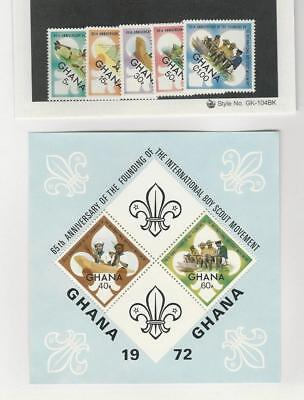Ghana, Postage Stamp, #460-465 Set & Sheet Mint NH, 1972 Scouting