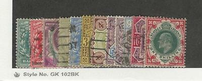 Great Britain, Postage Stamp, #127-138a Set of 12 Used, 1902-1911
