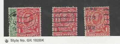 Great Britain, Postage Stamp, #153-154, 156, 158 Used, 1912