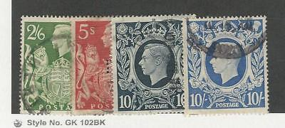Great Britain, Postage Stamp, #249A-251A Used, 1939-42