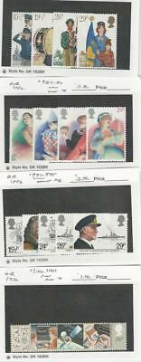 Great Britain, Postage Stamp, #983-995, 1000-01 Mint NH, 1982