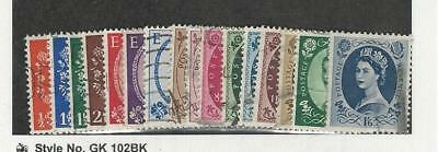 Great Britain, Postage Stamp, #292-300, 302-308 Used, 1952-54