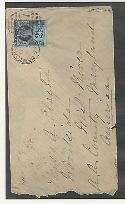 Great Britain, Postage Stamp, #114 Cover To Newton, Maryland 1894